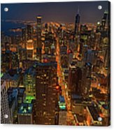 Chicagos Magnificent Mile Acrylic Print
