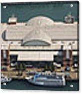 Chicago's Navy Pier Aerial Panoramic Acrylic Print by Adam Romanowicz