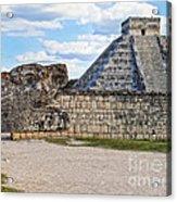 Chichen Itza - Mexico. View On El Castillo Pyramid. Acrylic Print