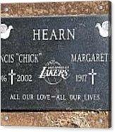 Chick Hearn Grave Acrylic Print
