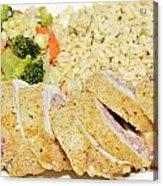 Chicken Cordon Blue  Acrylic Print by Susan Leggett