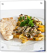 Chicken Escalope With Potatoes And Mushroom Acrylic Print