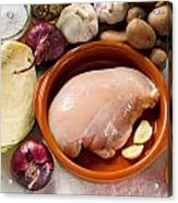 Chicken Fillet With Vegetable Acrylic Print