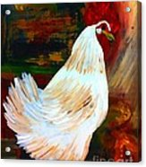 Chicken--yard Bird Impression Acrylic Print