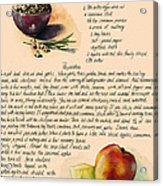 Chickpeas Soup With Apples Acrylic Print by Alessandra Andrisani