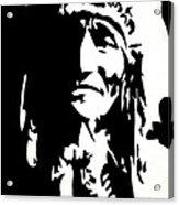 Chief Half In Darkness Acrylic Print by HJHunt