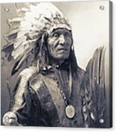 Chief He Dog Of The Sioux Nation  C. 1900 Acrylic Print