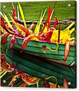 Chihuly Boat Acrylic Print by Diana Powell