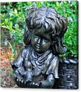 Child And Dove Acrylic Print