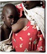Child Breastfeeding Acrylic Print