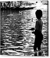 Child Fishing Acrylic Print