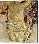 Child Sculpture With Garpes Acrylic Print by Linda Phelps