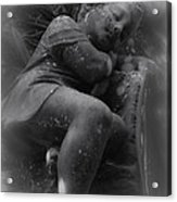 Child Statue Acrylic Print by Jennifer Burley