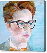 Child With Glasses Acrylic Print