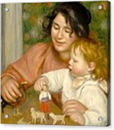 Child With Toys Gabrielle And The Artist S Son Jean Acrylic Print by Pierre Auguste Renoir