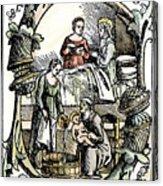 Childbirth, 1499 Acrylic Print
