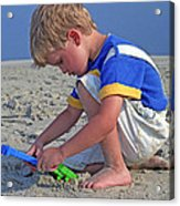 Childhood Beach Play Acrylic Print