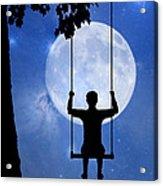 Childhood Dreams 2 The Swing Acrylic Print by John Edwards