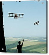Childhood Dreams The Flypast Acrylic Print by John Edwards