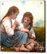 Childhood Idyllic By Bouguereau Acrylic Print