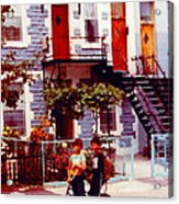 Childhood Montreal Memories Balconies And Bikes The Boys Of Summer Our Streets Tell Our Story Acrylic Print