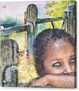Childhood Triptic Acrylic Print