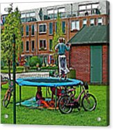 Children At Play In Enkhuizen-netherlands Acrylic Print