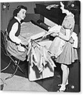 Children Doing Housework Acrylic Print