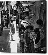 Children In The Rosarito Art Shops Acrylic Print