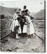 Children With Camera, C1900 Acrylic Print