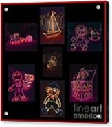 Children's Toys In Lights Poster 2 Acrylic Print