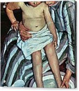 Child's Bath Acrylic Print by Mary Cassatt