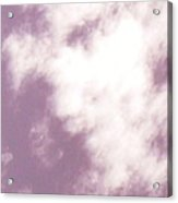 Child's Face Looking Down From The Clouds Acrylic Print