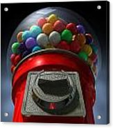 Childs View Of The Gumball Machine Acrylic Print by Allan Swart