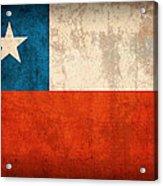 Chile Flag Vintage Distressed Finish Acrylic Print
