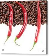 Chili And Coffee Acrylic Print