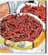 Chili At The Market Acrylic Print