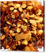 Chili Pepper Flakes Acrylic Print