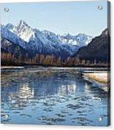 Chilkat River Freeze Up Acrylic Print