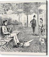Chill October Rotten Row 1871 Acrylic Print