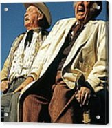Chill Wills And Andy Devine Singing Atop A Stagecoach Old Tucson Arizona 1971 Acrylic Print