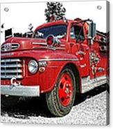 Chilliwack Fire- Mercury Firetruck Acrylic Print