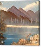 Chilly Mountain Lake Acrylic Print