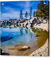 Chimney Beach Lake Tahoe Shoreline Acrylic Print by Scott McGuire