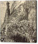 Chimney Rock At Hickory-nut Gap 1872 Engraving Acrylic Print