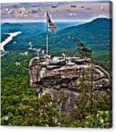 Chimney Rock At Lake Lure Acrylic Print