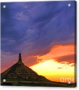 Chimney Rock Nebraska Acrylic Print
