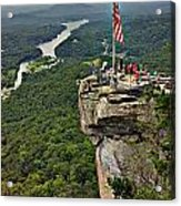 Chimney Rock Overlook Acrylic Print