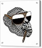 Chimp1 Acrylic Print by Karen Larter