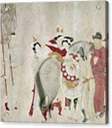 China Concubine & Horse Acrylic Print